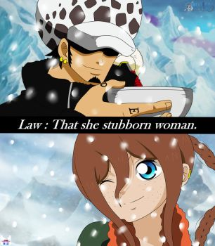 One Piece OC - Stubborn woman by jullyonepiece