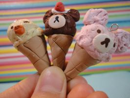 Kawaii Clay San-x Ice Creams by Strawberrypopandart