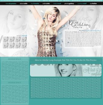 Ellie Goulding Wordpress Premade by BurningBrightDesigns