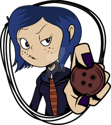 Coraline and The Secret Door (Sticker Example) by NightDreams16