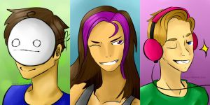 Cry, Minx, and Pewds: My Favorite Gamers by BlazedMemoryInk