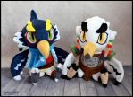Revali and Teba plush set by SewYouPlushieThings