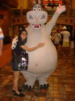 Me and Gloria the Hippo at the cruise photo 1 by Magic-Kristina-KW