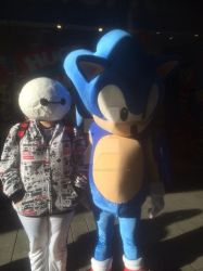 Baymax meets sonic by Japnesefangirl
