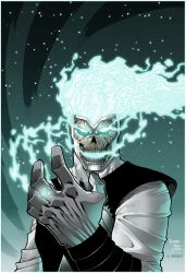Blackest night firestorm by Kid Destructo colored by Dany-Morales