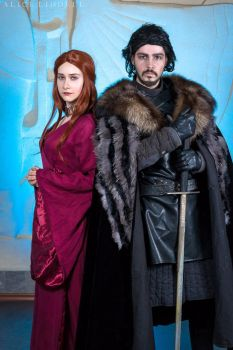 Melisandre and Jon Snow, ANIMAU EXPO 2017 by Shiera13