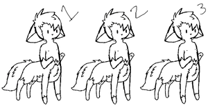 free to use canine-taur lineart by SolarFoxi