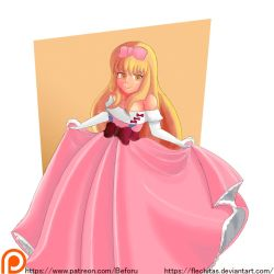 Satoko prom dress Safe version by flechitas