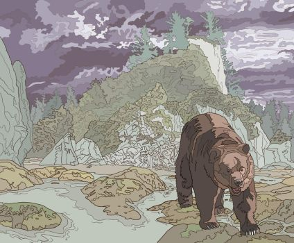 Bear in the Wilderness by jennyweatherup