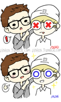 Krisyeol Doodle by sasoriluver101