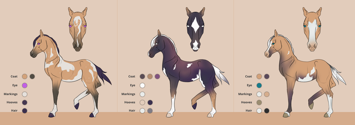 Foal designs for HideawayArtist by Catiza