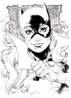 Batgirl pre con sketch - Indiana Comic Con 2015 by aethibert