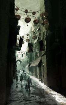 Asian alley by MittMac