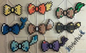 Eeveelution Bows by PerlerPixie
