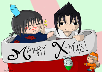Uchiha Christmas by l3ubbles