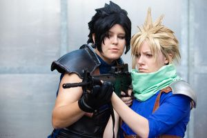 Zack Cloud Cosplay - Training by zahnpasta