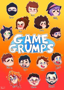 Game Grumps 5th Anniversary Fanart by monalisacandy123