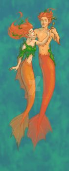 mermaid doodle thing by GingerOpal