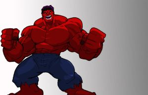 Red Hulk by Misterho