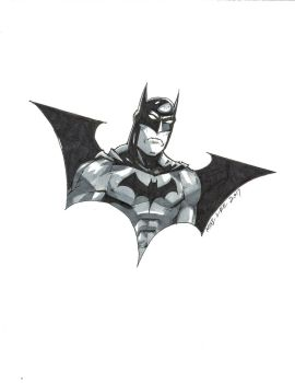 Batman in the Bat Logo by gandalf0987