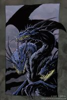 Dragon with Three Heads by drakhenliche