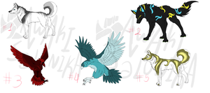 Birds and K9s adopts sheet - CLOSED by NoctaAdopts