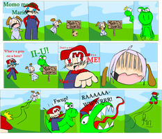 Momo Meets Mario by chriserony