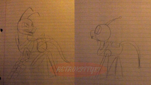 Zim And Gir mlp sketches by xXSoft-SilenceXx