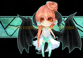 ADOPTABLE[Black Dragon Chibi + Pixel] [CLOSED] by KindlyGrim