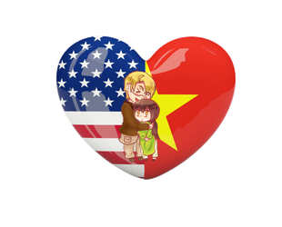 {{PC}}Chibi Flag Series AmeViet by Spirit-Okami