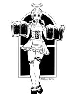 Polly, Patron Saint of Elven Barmaids by Arkhein