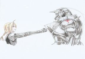 Edward Elric and Alphonse Elric (FMA) by danonymgs3