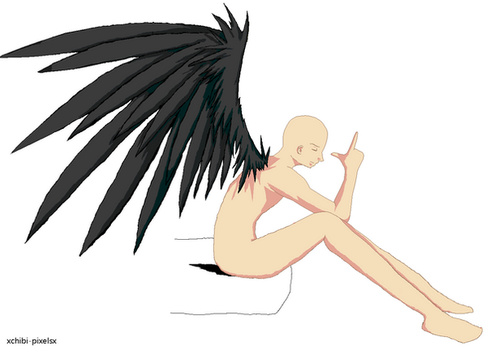 Emo Angel Boy - Base 1 by xChibi-Pixelsx