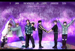 Happy BTS 4th Anniversary by MinSugaa
