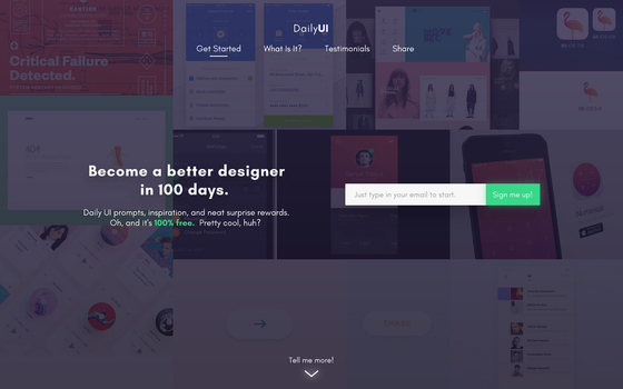 Daily UI #100 - Daily UI Landing Page Redesign by Terrance8d