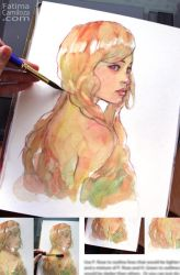 Create a Whimsical Watercolor Portrait: Female by taho
