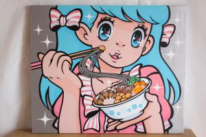 Canvas art Kinoko Soba by madoka07