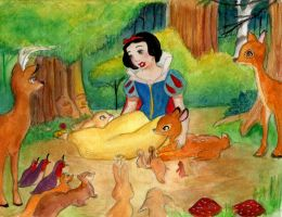 Snow white with a smile and a song by Kevsoraone