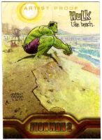 Sketch card of the Hulk by Andrew-Robinson