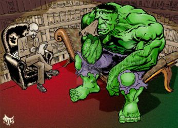Hulk Gets Therapy by mikecollins