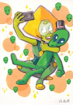 Peridot and her favourite alien by paurachan