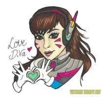 Love D.Va by VictoriaThorpe