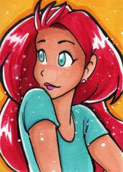 Candi Over Should ACEO Card by starlinehodge