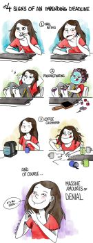 The 4 Signs of an Impending Deadline by Loleia