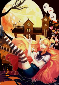 The Striped Socks Tell A Tale of Trick or Treat by NagisaFelicia