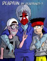 J and T with Deadman by JFMstudios