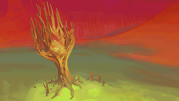 Sunset Tree by 11nephilim