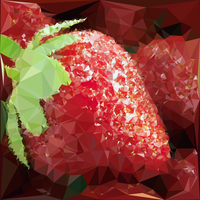 Abstract Art : Fruits : Strawberry by kenkchow