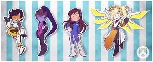 Overwatch stickies! by BloodyArchimedes