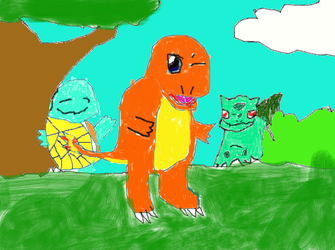 Pokemon  three starter by Chrisb1001